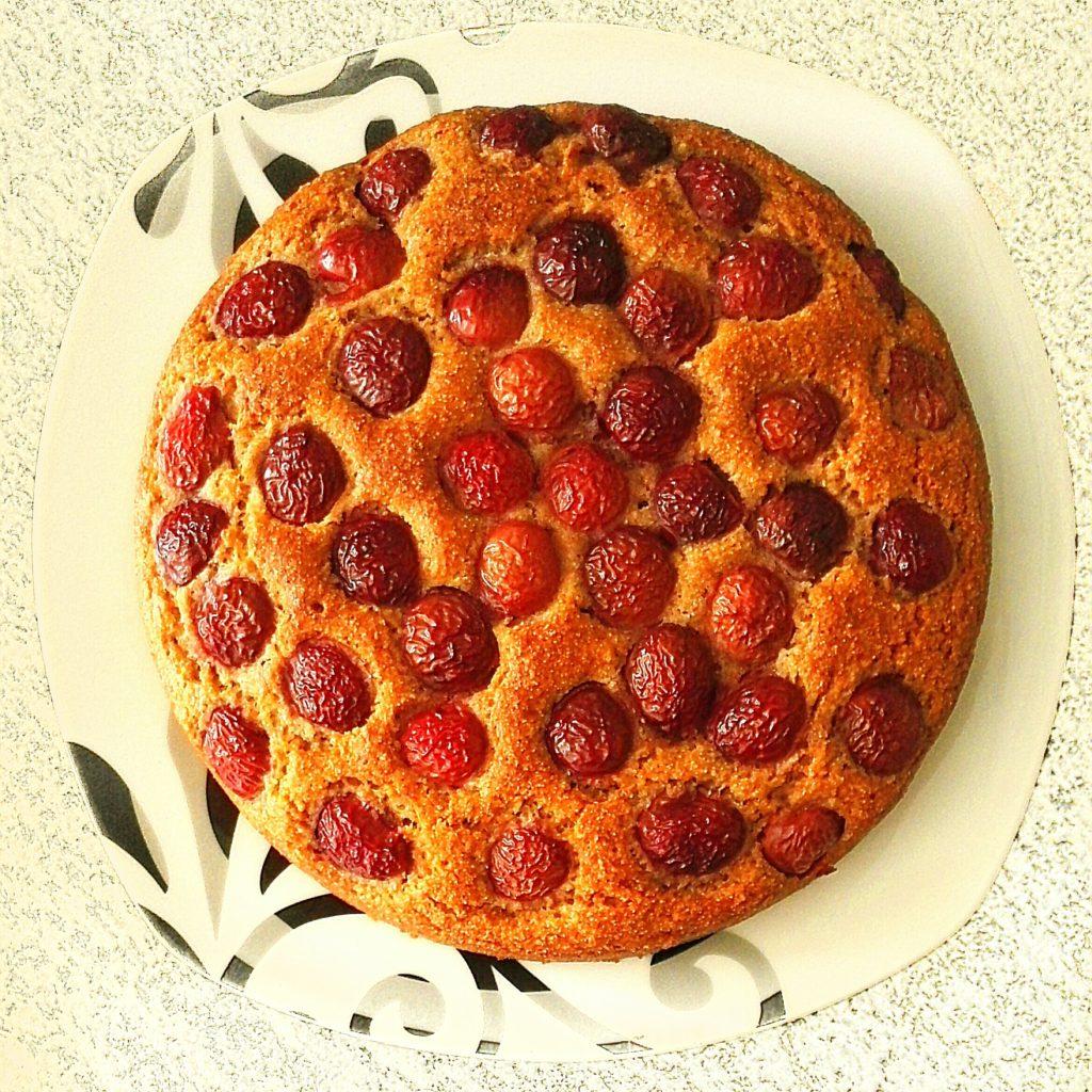 No fat cherry cake